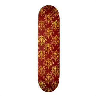Rich Holiday Damask Skate Boards