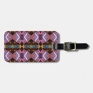 Rich Jewel Tones Abstract Fractal Tribal Pattern Luggage Tag