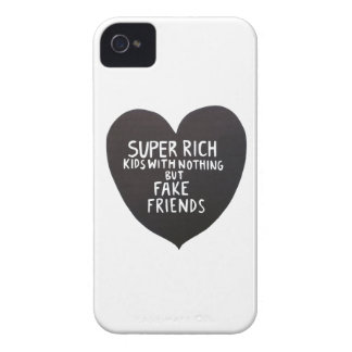 Rich kids and fake friends iPhone 4 cover