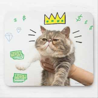 Rich King Cat Mouse Pad