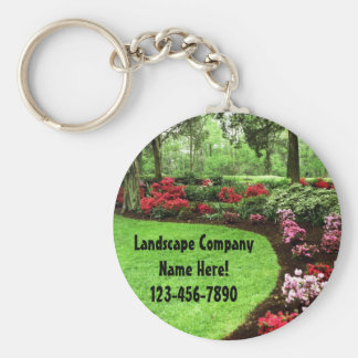 Rich Landscape Lawn Care Business Keychain