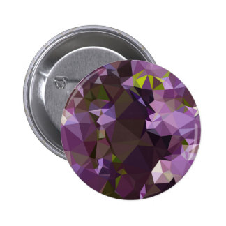 Rich Lilac Purple Abstract Low Polygon Background 2 Inch Round Button
