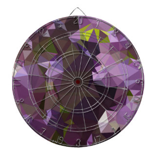 Rich Lilac Purple Abstract Low Polygon Background Dartboard