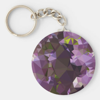 Rich Lilac Purple Abstract Low Polygon Background Keychain