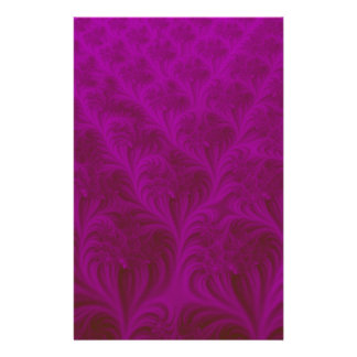 Rich magenta carpet effect 3D fractal Personalised Stationery
