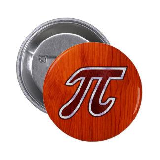 Rich Mahogany Pi Button
