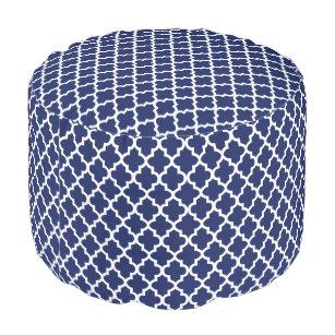 Pleasant Navy Blue Quatrefoil Poufs Ottomans Zazzle Ibusinesslaw Wood Chair Design Ideas Ibusinesslaworg