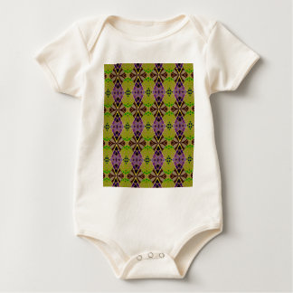 Rich, Olive Design on Baby Outfit Baby Bodysuit
