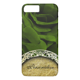 Rich olive green velvety roses flower photo iPhone 7 plus case