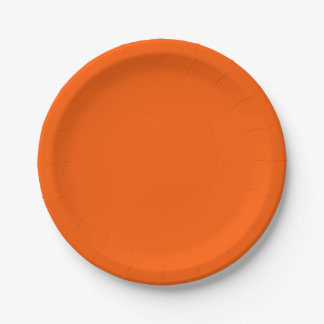 Rich Orange Paper Plates 7 Inch Paper Plate