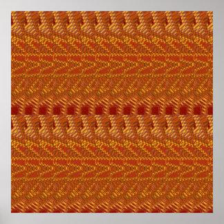 RICH Oriental ART : Golden Strands n Silken Fabric Poster