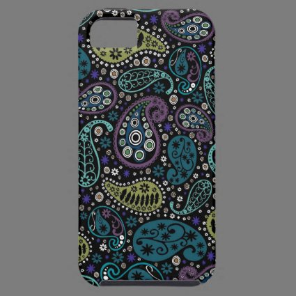 Rich Peacock Colors Paisley Pattern iPhone 5 Covers