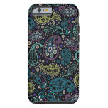 Rich Peacock Colors Paisley Pattern iPhone 6 Case