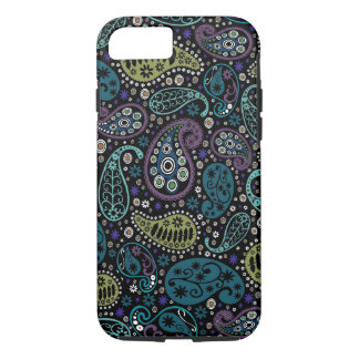 Rich Peacock Colors Paisley Pattern iPhone 7 Case