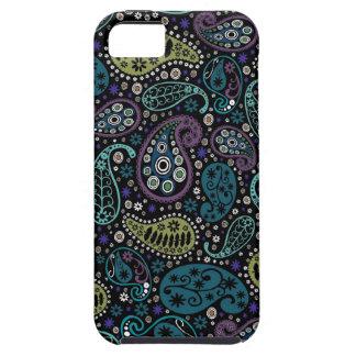 Rich Peacock Colors Paisley Pattern iPhone SE/5/5s Case