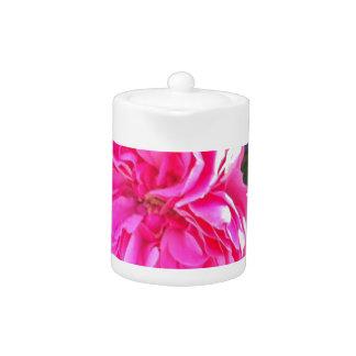 Rich Pink Rose Teapot