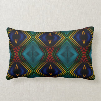 Rich Primary Colors Tribal Pattern Lumbar Pillow