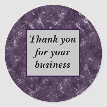 Rich Purple Black Professional Thank You Business Classic Round Sticker