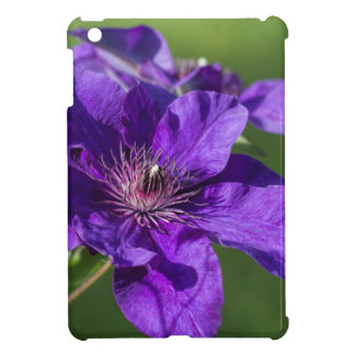 Rich Purple Clematis Blossom Macro Cover For The iPad Mini