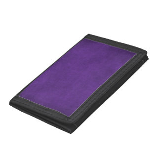 RICH PURPLE ROYAL VELVET GRUNGE PAPER CANVAS TEMPL TRIFOLD WALLETS