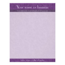 Rich Purple Textured with Lavender Letterhead