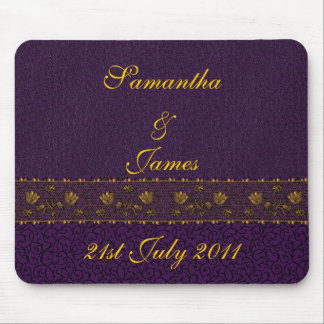 Rich Purple Wedding Mouse Pad