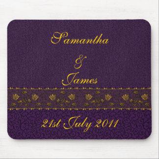 Rich Purple Wedding Mousepads