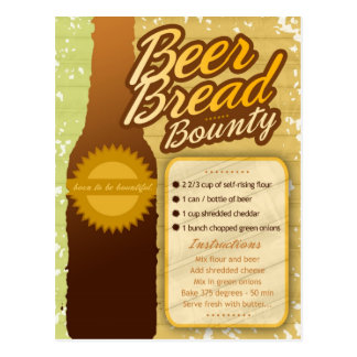 Rich Recipes BEER BREAD BOUNTY Postcard