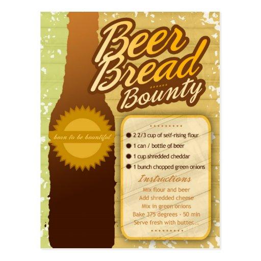 Rich Recipes BEER BREAD BOUNTY Postcard
