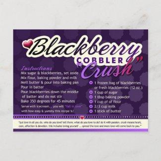 Rich Recipes - BLACKBERRY COBBLER CRUSH postcard