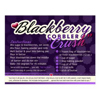Rich Recipes  BLACKBERRY COBBLER CRUSH Postcard