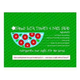 Rich Recipes FAMED FETA TOMATO BASIL SALAD Postcard