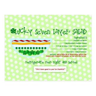 Rich Recipes  LUCKY SEVEN LAYER SALAD Postcard