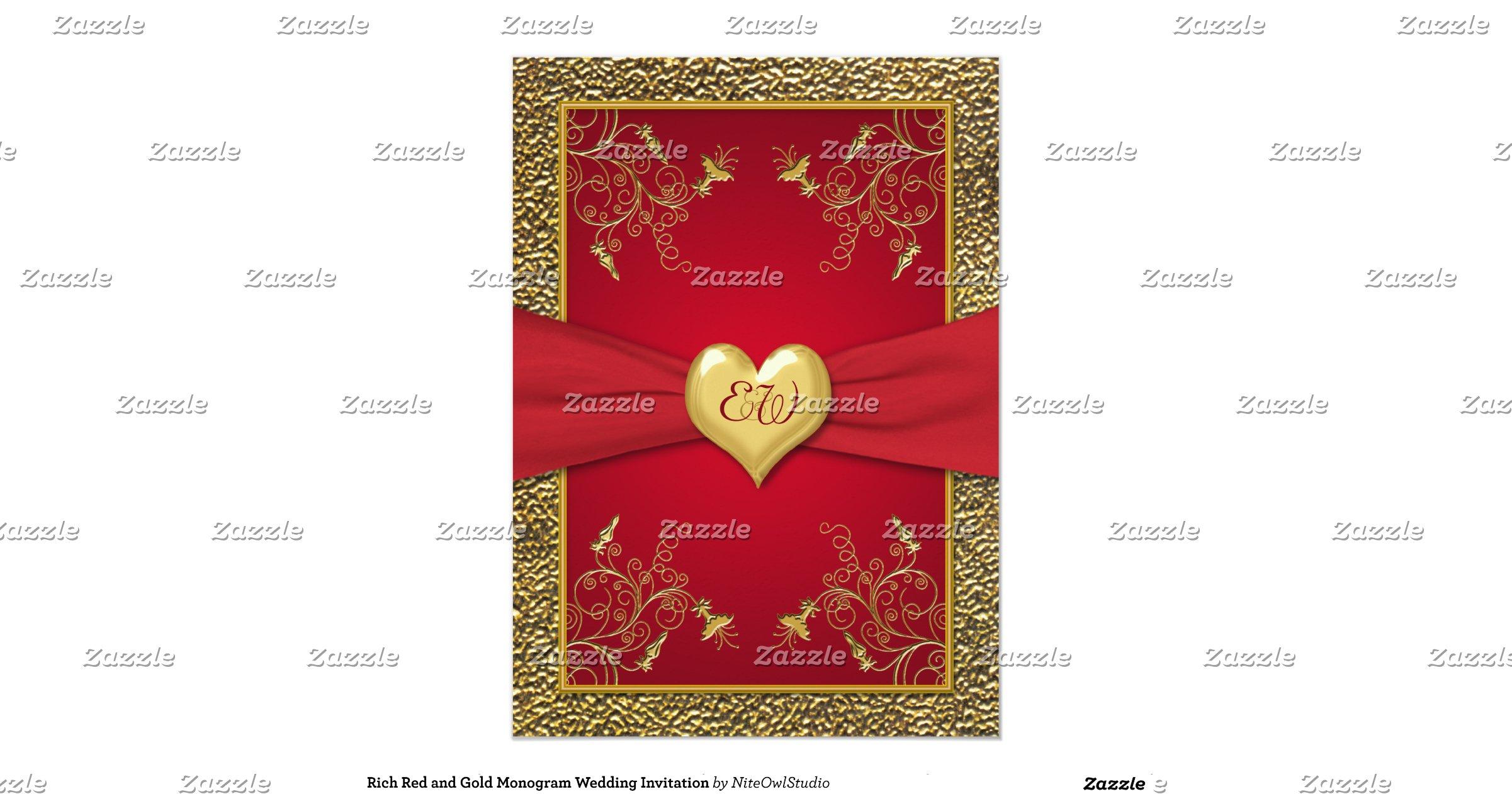 Rich Red And Gold Monogram Wedding Invitation R0da6f200ed034a15b8dcf96e6ecbeb3b Zkrqs 1200
