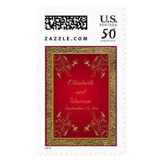 Rich Red and Gold Postage