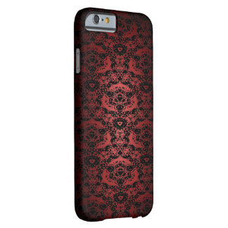 Rich Red Black Lace Pattern iPhone 6 Case