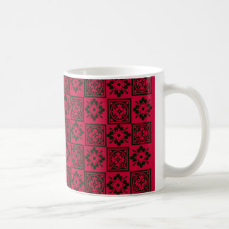 Rich Red Block Print Mug