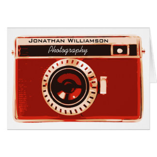 Rich Red Camera Photography Business Card