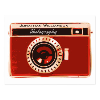 Rich Red Camera Photography Business Postcard