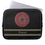 Rich Red Celtic Knot Personalized Laptop Sleeve