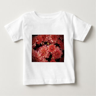Rich Red Chrysanthemums Baby T-Shirt