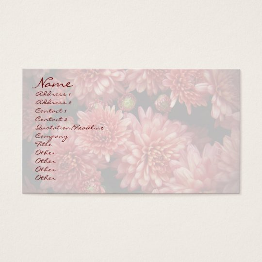 Rich Red Chrysanthemums Business Card