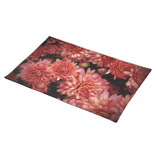 Rich Red Chrysanthemums Cloth Placemat