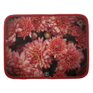 Rich Red Chrysanthemums Folio Planner