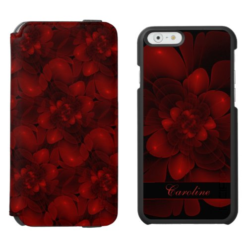 Rich Red Floral iPhone 6/6s Wallet Case