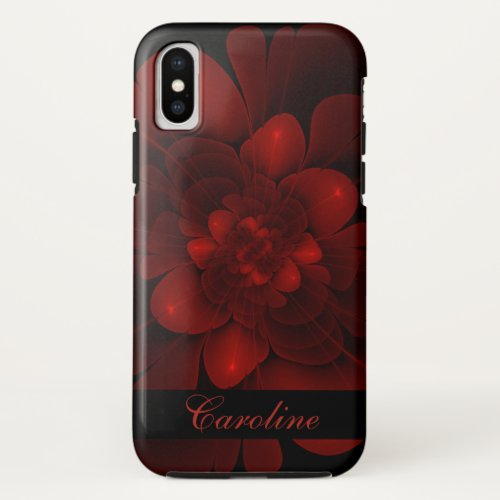 Rich Red Floral iPhone X Case