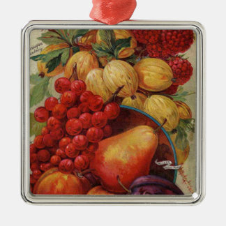 Rich Red Fruit Metal Ornament
