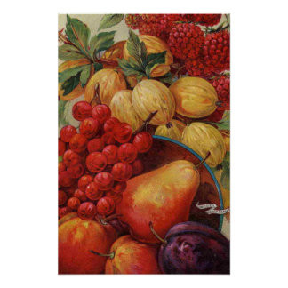 Rich Red Fruit Poster