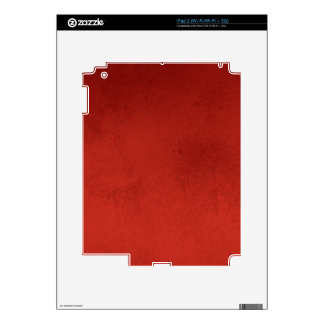 RICH RED GRADIENT BACKGROUND LOVE TEXTURED TEMPLAT iPad 2 DECAL