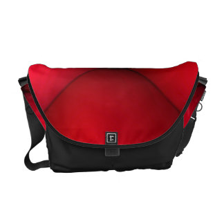 Rich Red Leather Tuck & Roll Interior Courier Bag